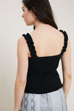 Wishlist Ruffle Strap Tank - Alternate List Image