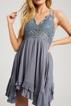 Shoptiques Product: Scalloped Lace-Bralette Dress