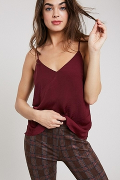 Wishlist Silky Burgundy Camisole - Product List Image