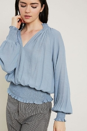 Wishlist Smocked Hem Top - Product Mini Image