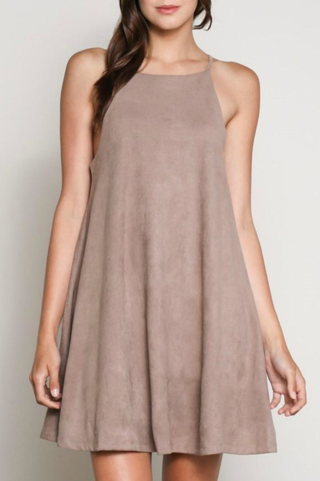 Wishlist Solid Suede Dress - Main Image