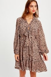 Wishlist Spotted Longsleeve Dress - Front cropped