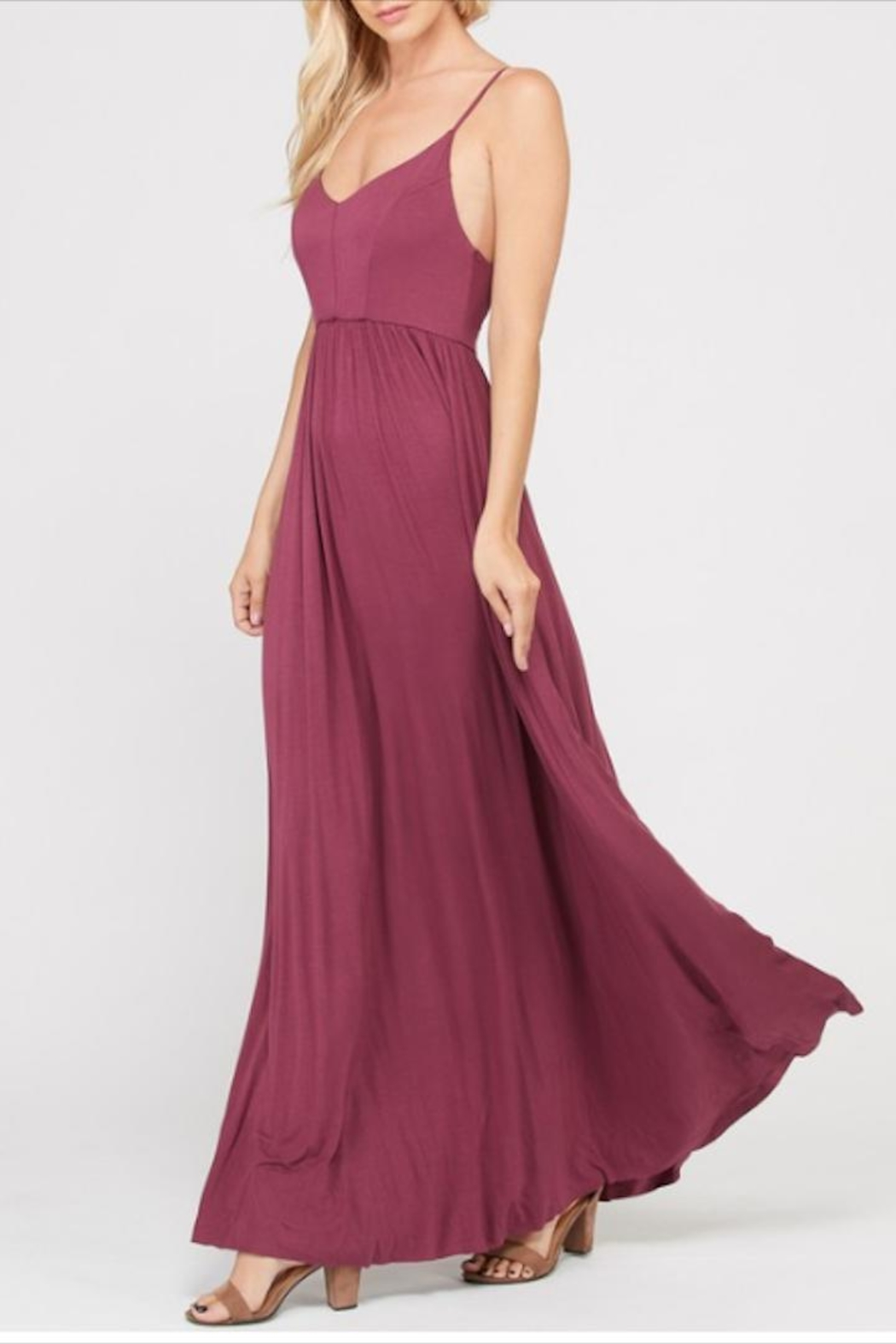 Wishlist Strappy Criss-Cross Maxi - Front Full Image