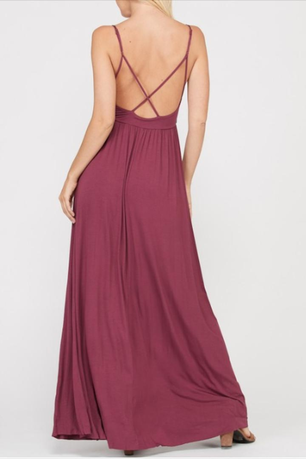 Wishlist Strappy Criss-Cross Maxi - Side Cropped Image