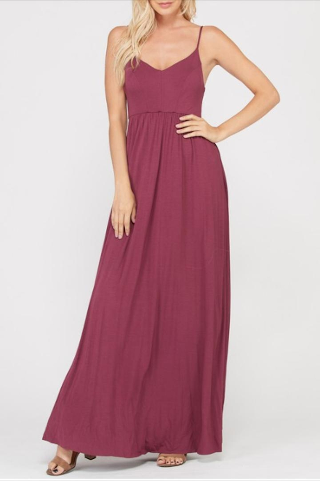Wishlist Strappy Criss-Cross Maxi - Front Cropped Image