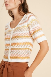 Wishlist Striped Button-Down Sweater - Other