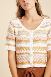 Wishlist Striped Button-Down Sweater - Front cropped