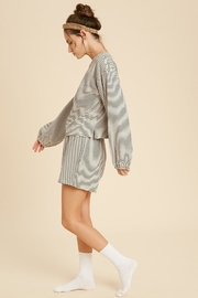 Wishlist Striped Knit Pajamas - Front full body