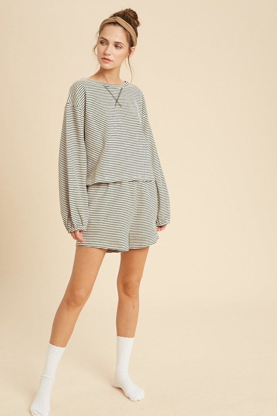Wishlist Striped Knit Pajamas - Front Cropped Image
