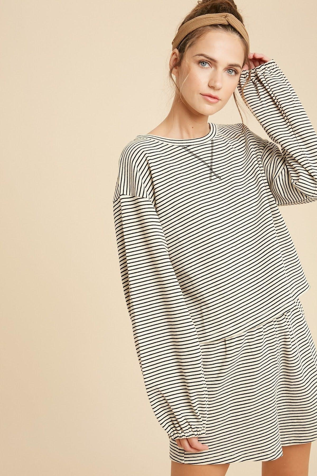 Wishlist Striped Knit Pajamas - Side Cropped Image