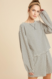 Wishlist Striped Knit Pajamas - Side cropped