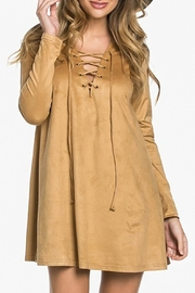 Wishlist Suede Crisscross Dress - Product Mini Image