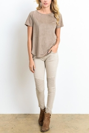 Wishlist Suede Top - Front cropped