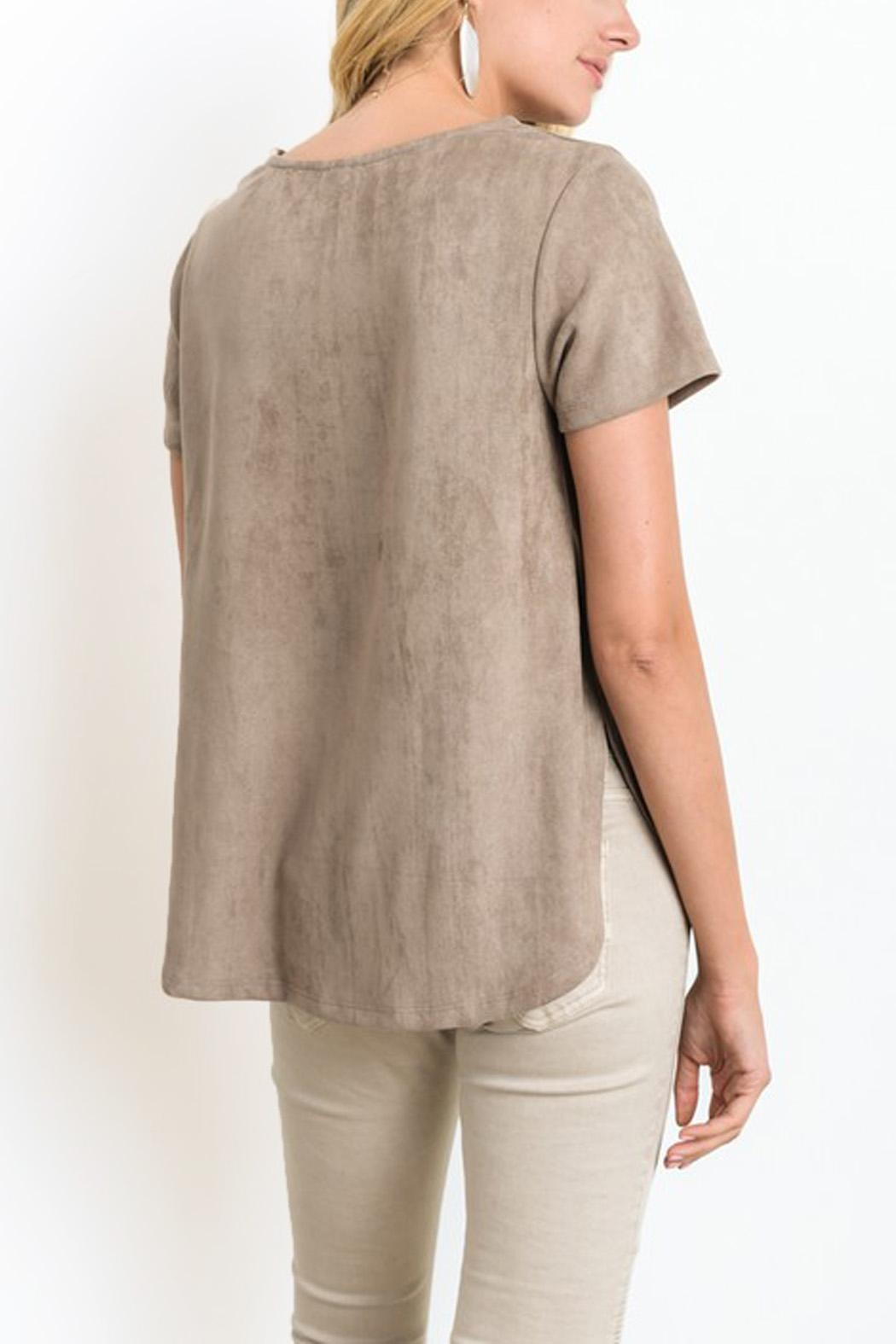 Wishlist Suede Top - Front Full Image
