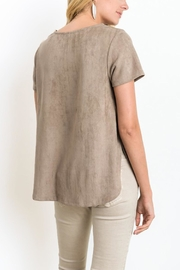 Wishlist Suede Top - Front full body