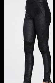 Wishlist Sueded Moto Legging - Front cropped