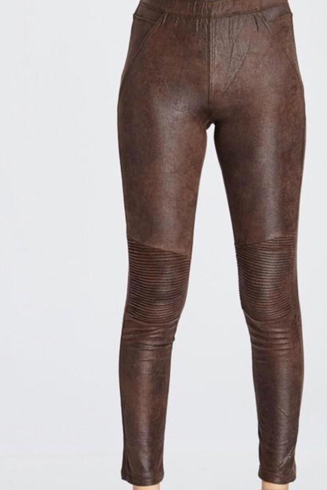 Wishlist Sueded Moto Legging - Front Cropped Image