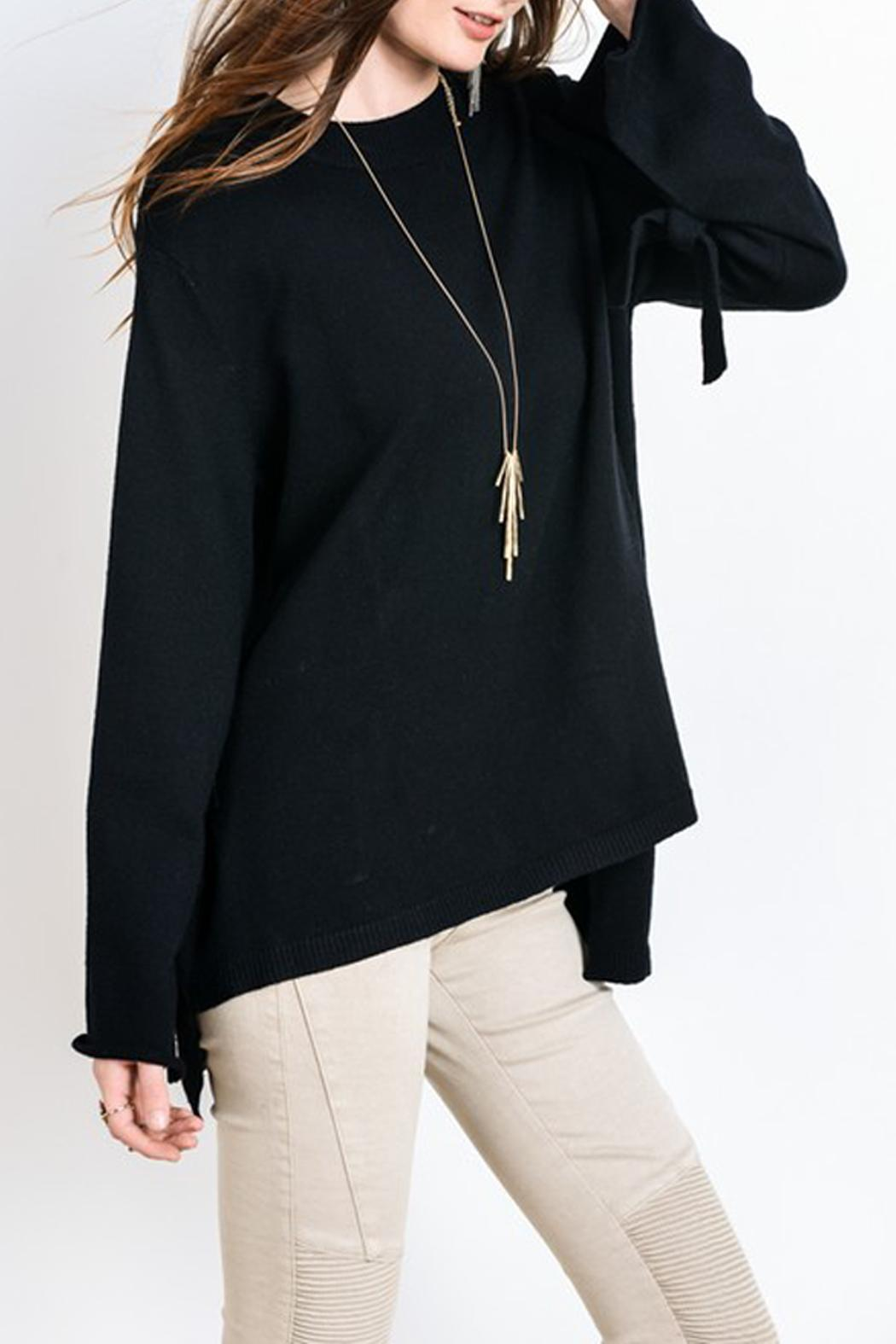 Wishlist Sweater Tie Long Sleeve - Front Full Image