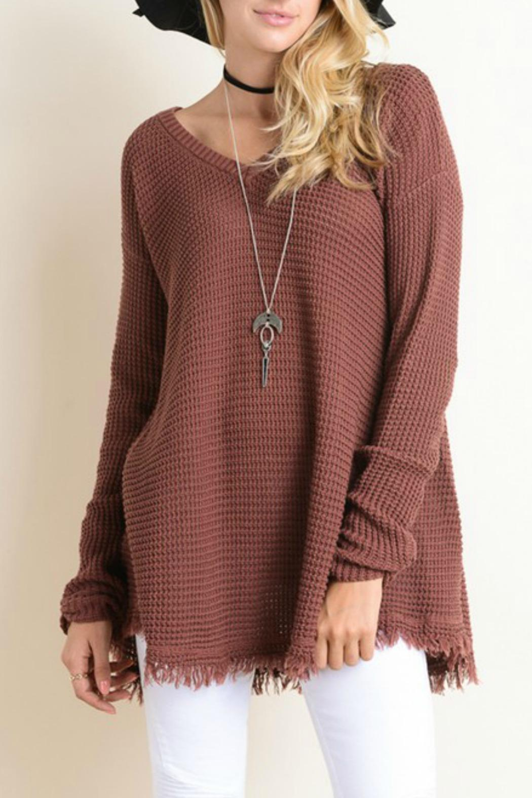 Wishlist Sweater Tunic Fringe from Mississippi by Bay-Tique ...