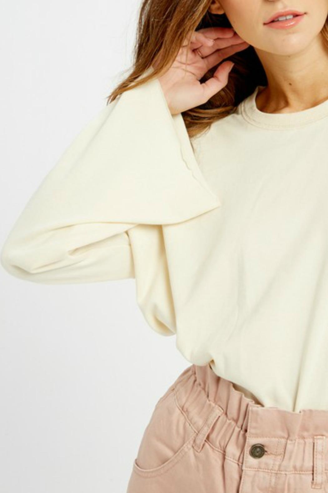 Wishlist Tallulah Bell-Sleeve Sweatshirt - Back Cropped Image