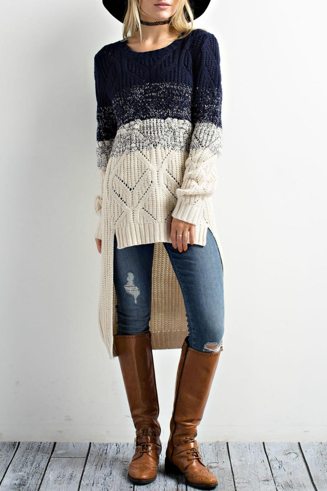 Wishlist Tri-Tone High-Low Sweater from New Jersey by Making Waves ...