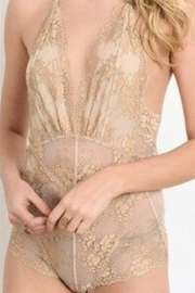 Wishlist Two-Tone Lace Bodysuit - Front full body