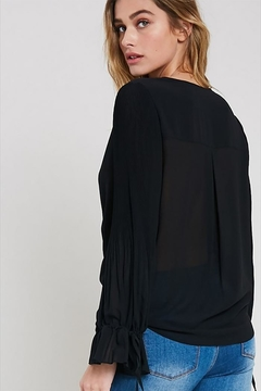 Wishlist V-Neck Tie Blouse - Alternate List Image