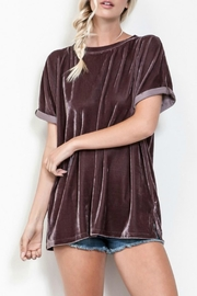 Wishlist Velvet Crew Top - Product Mini Image