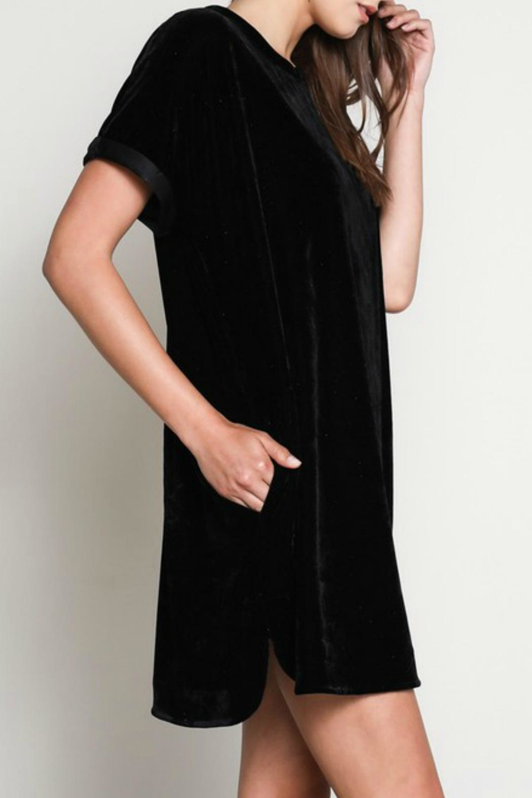 Wishlist Velvet Tshirt Dress - Front Full Image