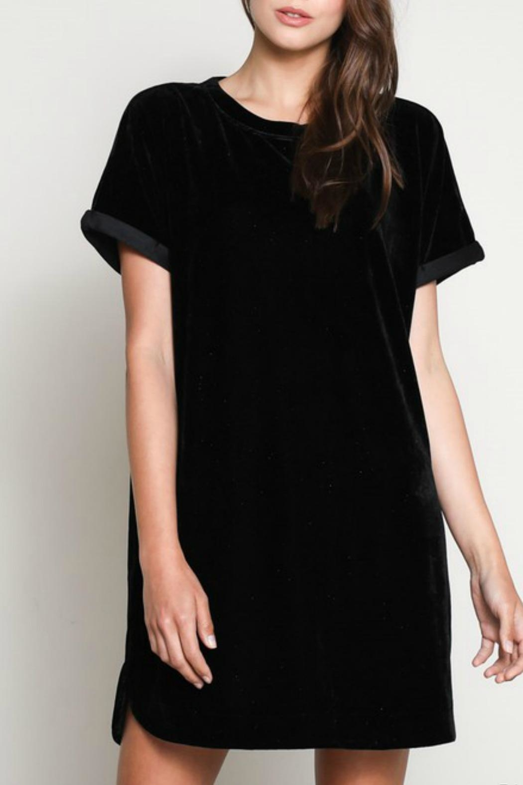 Wishlist Velvet Tshirt Dress - Front Cropped Image