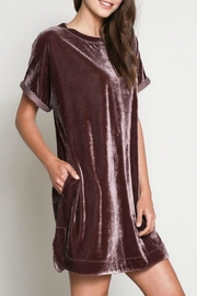 Wishlist Velvet Tshirt Dress - Front full body