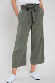 Wishlist Washed Self-Tie Belted Tencel Pants - Front cropped