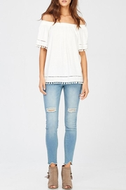 Wishlist White Pom-Pom Top - Front full body