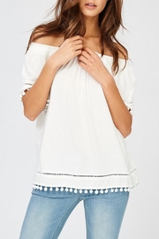 Wishlist White Pom-Pom Top - Product Mini Image