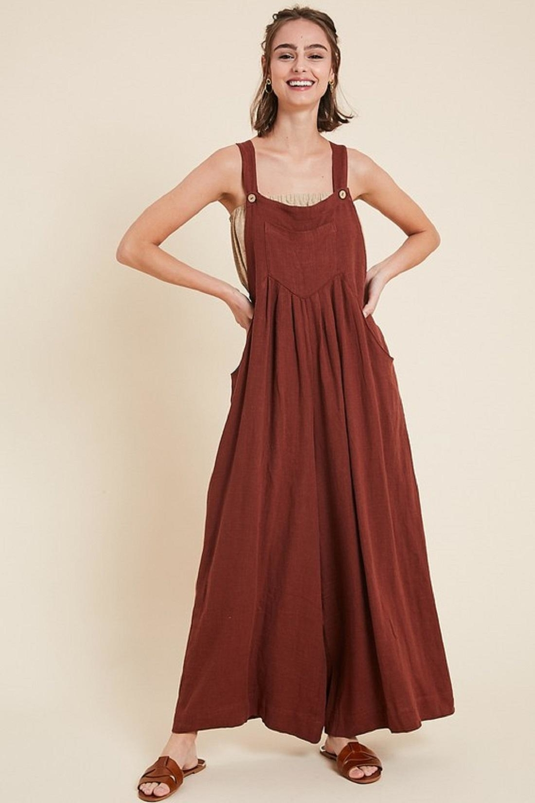 Wishlist Wide Leg Jumpsuit - Front Cropped Image