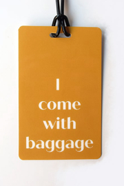 He Said, She Said With Baggage Luggage Tag - Product Mini Image