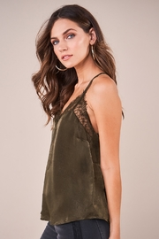 Sugarlips With Love Lace Trim Satin Cami - Side cropped