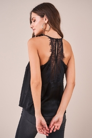 Sugarlips With Love Lace Trim Satin Cami - Front full body