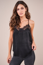 Sugarlips With Love Lace Trim Satin Cami - Front cropped