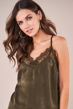 Sugarlips With Love Lace Trim Satin Cami - Product List Image