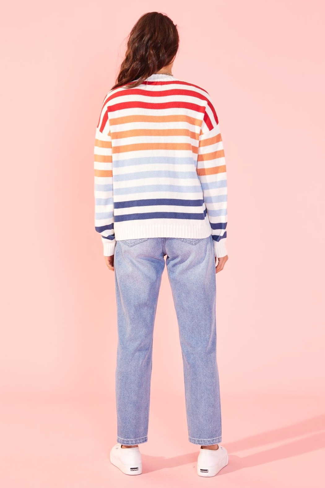 MinkPink Without A Double Stripe Sweater - Side Cropped Image