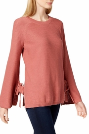 Two by Vince Camuto wo By Vince Camuto Womens Earth Pink Texture Stitch Top - Product Mini Image