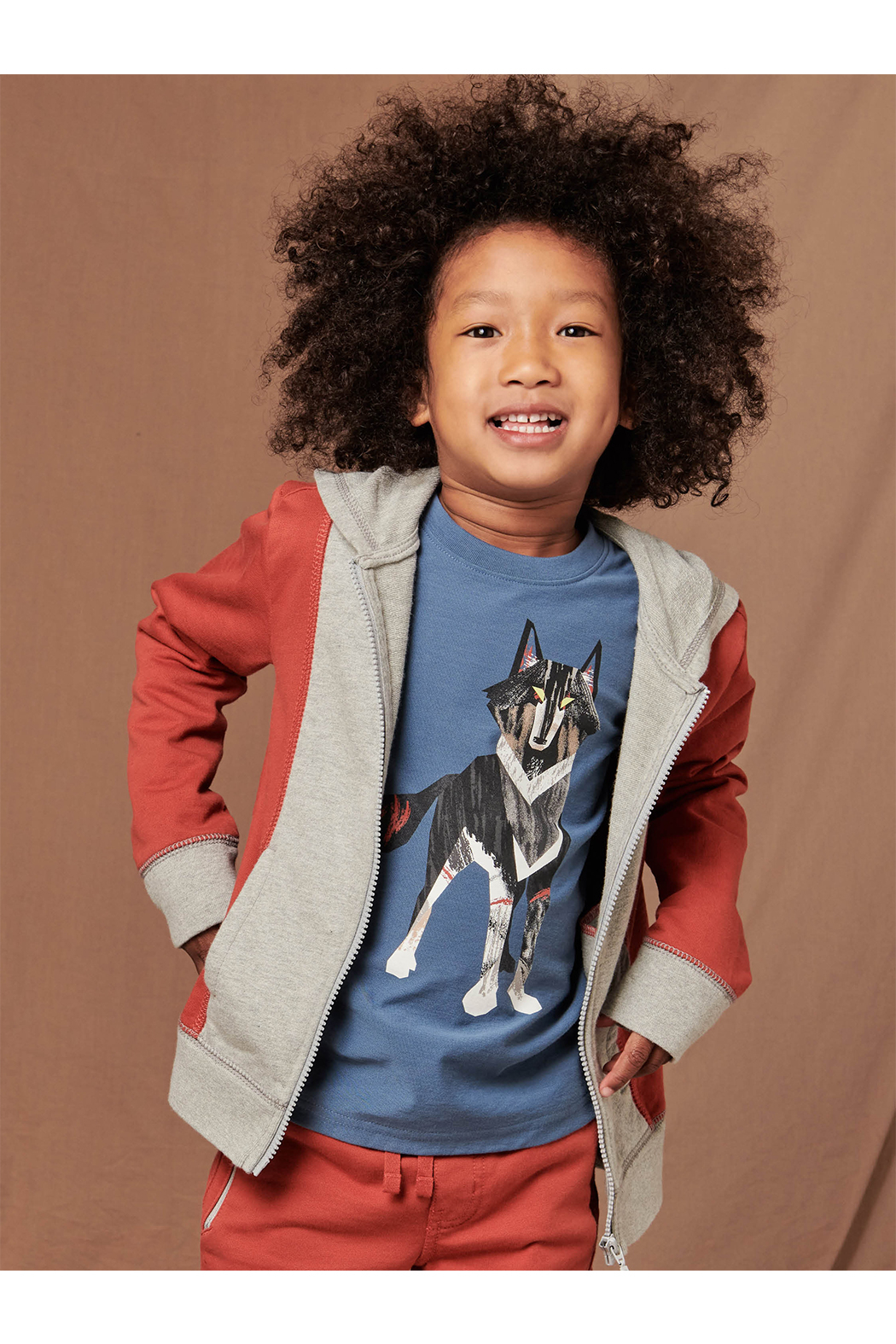 Tea Collection  Wolf Graphic Tee - Front Full Image