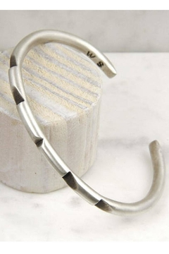 Wolf & Sparrow Aztec Silver Bangle - Product List Image