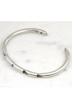 Wolf & Sparrow Aztec Silver Bangle - Alternate List Image