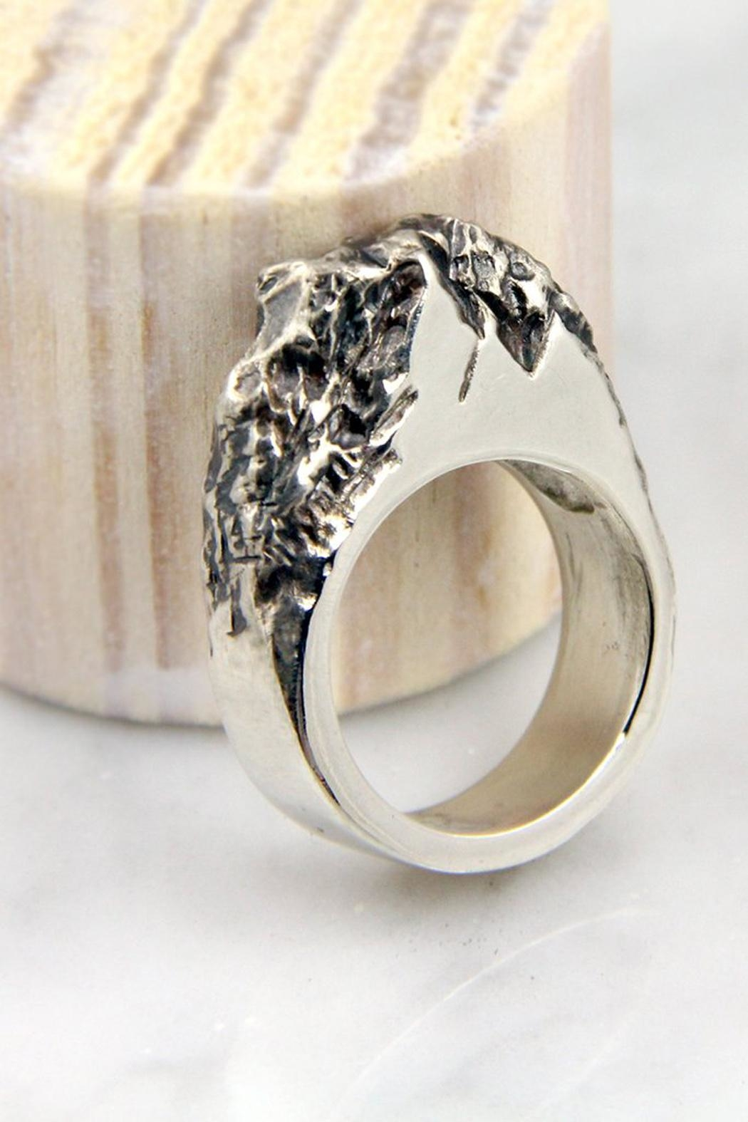 Wolf & Sparrow Silver Rock Ring - Main Image