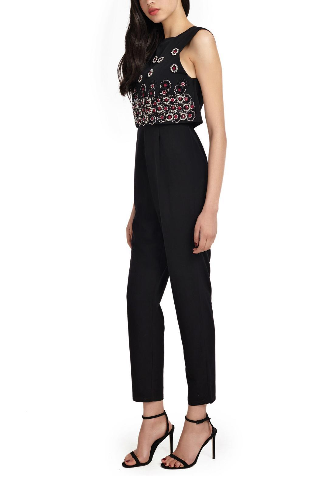 Wolf & Whistle Beaded Overlay Jumpsuit - Back Cropped Image