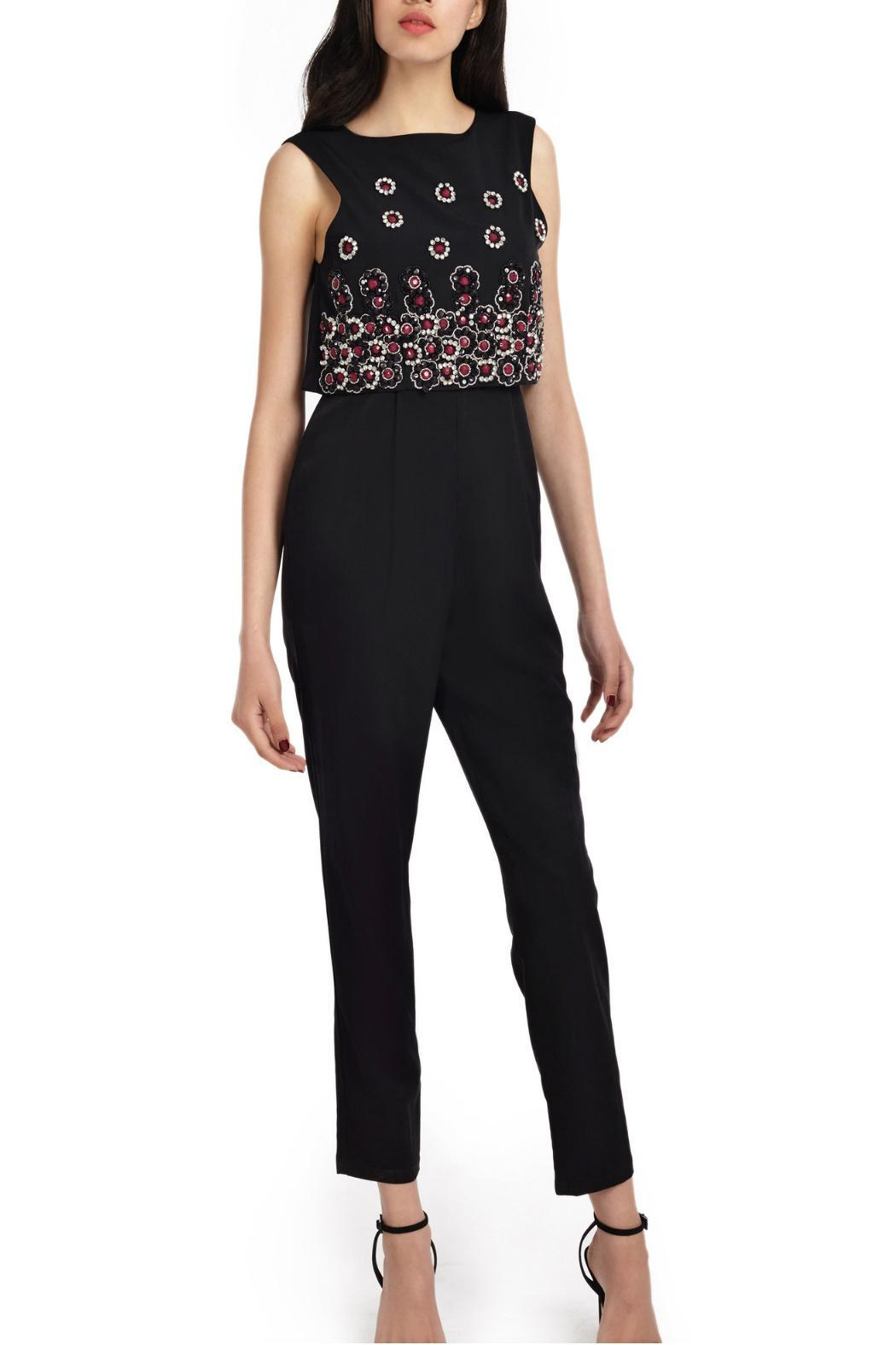 Wolf & Whistle Beaded Overlay Jumpsuit - Side Cropped Image