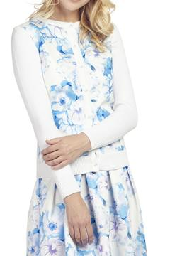 Shoptiques Product: Blue Floral Cardigan