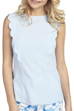 Shoptiques Product: Blue Frill Top